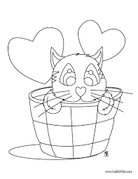 cat in love coloring pages hellokids com