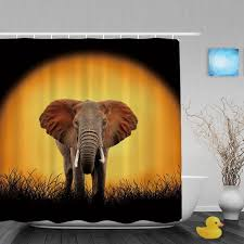 wild animals and nature theme bathroom shower curtains beautiful