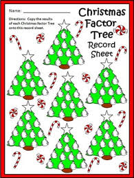 activities christmas factor tree christmas math center activity