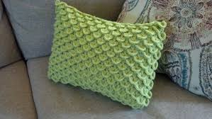 pattern crocodile stitch pillow knit a bit crochet away