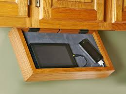 Under Cabinet Cookbook Holder Plans Phone Charging Station If Your Kitchen Counter Turns Into A Rat U0027s