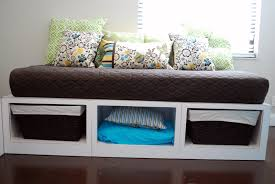 furniture white ooden bed frame with storage and basket using