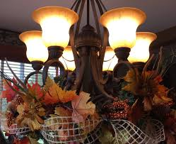 the tuscan home new chandelier decorated for fall