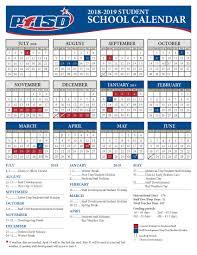 school year calendar 2018 2019 district calendar
