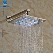 online get cheap shower head replacement aliexpress com alibaba ulgksd wholesale and retail wall mounted 10 shower head led bath rainfall shower head bathroom shower head replacement