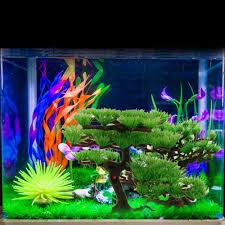 generic aquarium artificial plastic plant pine tree fish tank