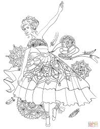 ballerina swan dance coloring page free printable coloring pages