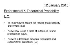 Experimental Probability Worksheet Experimental And Theoretical Probability By Davewilson Teaching