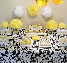 yellow baby shower decorations bumble bee baby shower decorations simplyiced party details