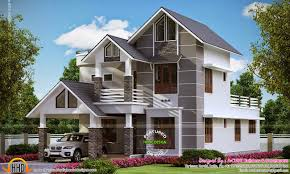 affordable home designs modern sober coloured sloping roof house kerala home design