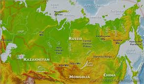 russia map russia physical map