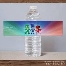 pj masks bottle labels instant download printable digital pj