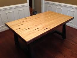 reclaimed bowling lane table 5 steps with pictures