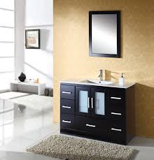 Zola Bathroom Furniture Virtu Zola 48 Inch Modern Bathroom Vanity Solid Oak Wood Construction