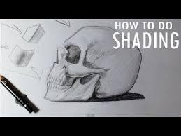 how to shade a skull in pencil skull drawings