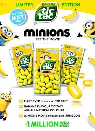 where to buy minion tic tacs banana flavored yellow tic tacs that look just like the