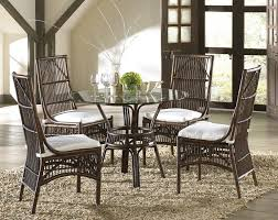glass dining room set in rattan 110 701 dt 5 set at beyond stores