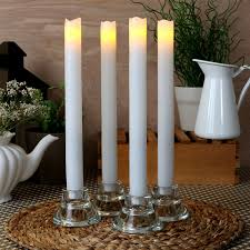 halloween flameless candles lights com flameless candles taper candles laurent white 11