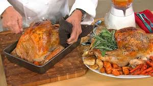 roast turkey on a bed of vegetables recipe wolfgang puck recipe