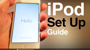 ipod touch user guide main set up first time turning on 5th gen