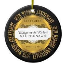50th wedding anniversary christmas ornament 10th tin look wedding anniversary monogram disposable napkin