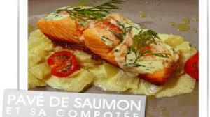 cuisiner pavé de saumon au four recette pavé de saumon et sa compotée de fenouil poisson