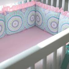 Bright Pink Crib Bedding by Aqua Haute Baby Crib Bedding Carousel Designs