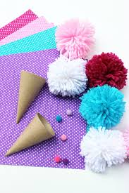 ice cream craft pom pom cones for kids darice