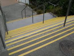 Abrasive Stair Nosing by Safety Step The Ultimate In Anti Slip Technology Eliminating