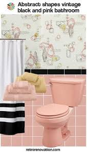 vintage pink and maroon bathroom design ideas retro artdeco