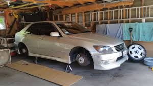 lexus is300 wagon slammed wheel swap on is300 cam guys is kevin youtube