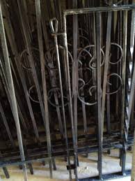 how to install a salvaged wrought iron fence gneiss house