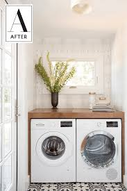 laundry room bathroom ideas a small space squeezes in a bath u0026 laundry room beautifully