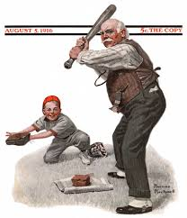 grs at the plate norman rockwell saturday evening post cover 1916