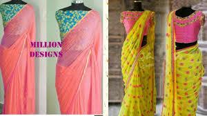 mix and match blouses and sarees contrast saree blouse