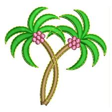 coconut tree embroidery design