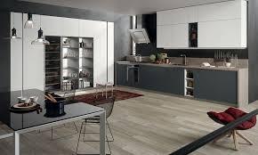 plan de cuisine moderne cuisine moderne grise et bois photos de design d intérieur et