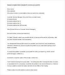 complaint letter u2013 10 free word pdf format download free