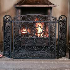 ornate antique style cast iron fire screen by dibor