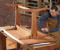 A Trestle Table With Modern Appeal FineWoodworking - Trestle table design