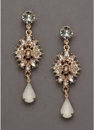 drop earrings wedding gold and blush drop earrings david s bridal