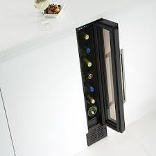 under cabinet wine cooler built in wine fridge i like how it s on the end cap and small