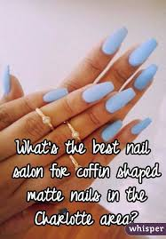 the best nail salon for coffin shaped matte nails in the charlotte