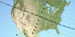 Map Of The United States Time Zones by Solar Eclipse 2017 Map Business Insider