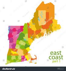 usa east coast map usa east coast vector map stock vector 71431744