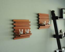 wooden wall hanging wall sconce candle holder minimalist modern wood wall hanging