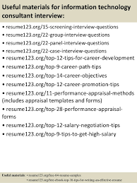 Technical Consultant Resume Sample by Top 8 Information Technology Consultant Resume Samples