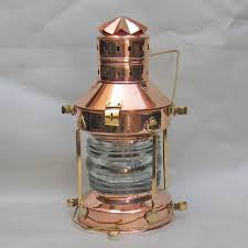 Ship Light Fixture Robin S Dockside Shop Large Copper Anchor Lantern