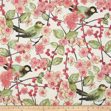 Upholstery Fabric With Birds Waverly In The Air Blossom Discount Designer Fabric Fabric Com