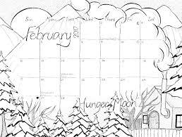 coloring calendar page february 2017 u201chunger moon u201d u2013 studio inkcycle